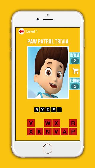 Trivia Quiz Game For Paw Patrol