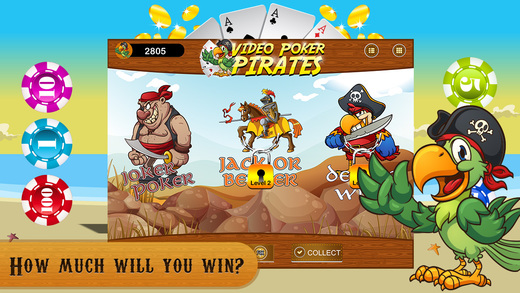 Video Poker PRO - Pirates Quest