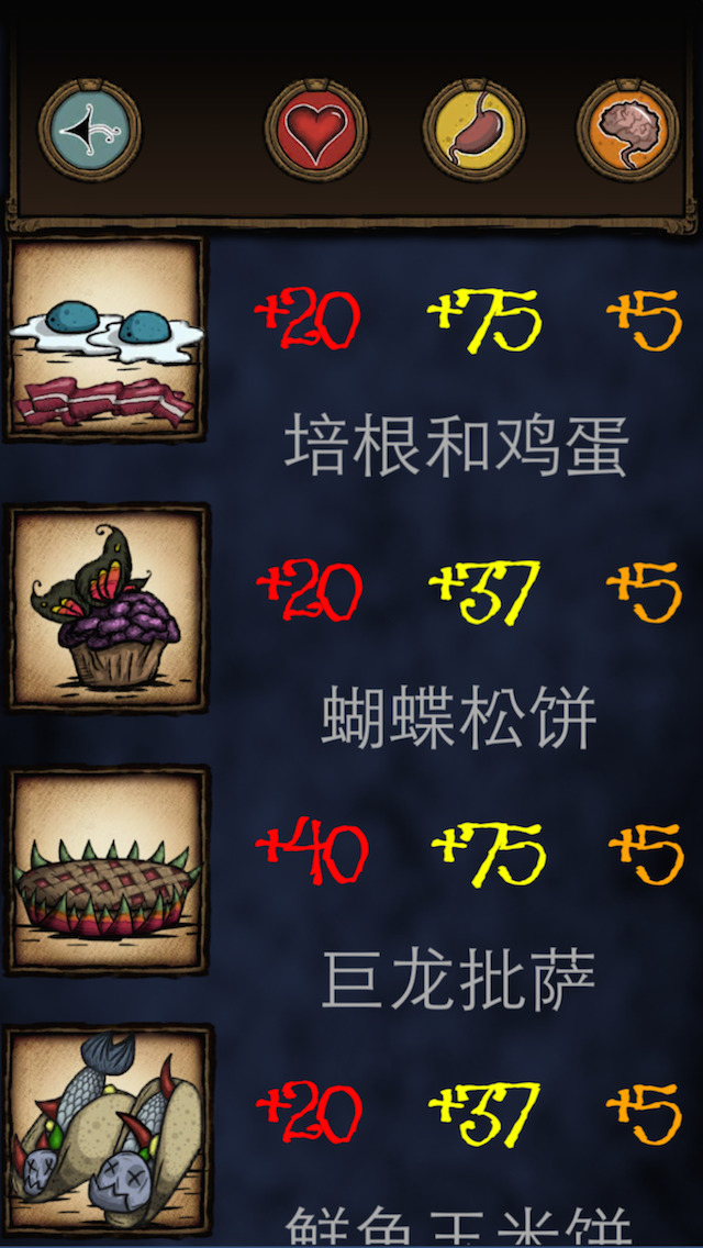 饥荒食谱大全 - Don't Starve食谱搭配大全 screenshot 2