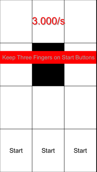 Three Fingers - Keep Touching White Tiles