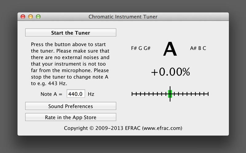 Chromatic Instrument Tuner Screenshot - 3