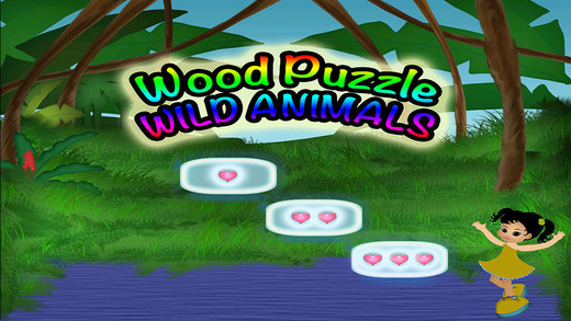 Animals Wood Puzzle Preschool Learning Wild Experience Match Game