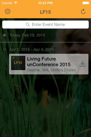 Living Future unConference 2015 screen