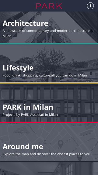 PARK Mapp - Milan architectural guide