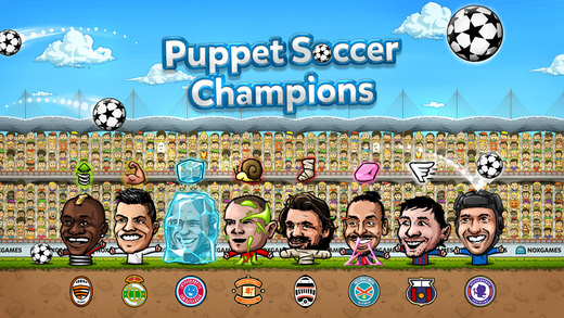 Puppet soccer champions football league of the big head marionette