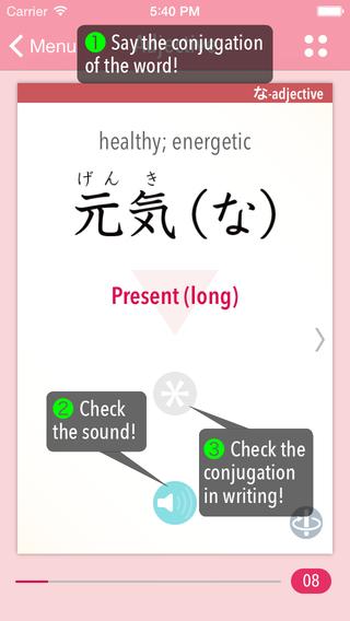 GENKI Conjugation Cards—Exercises for Japanese Verb Adjective Conjugations