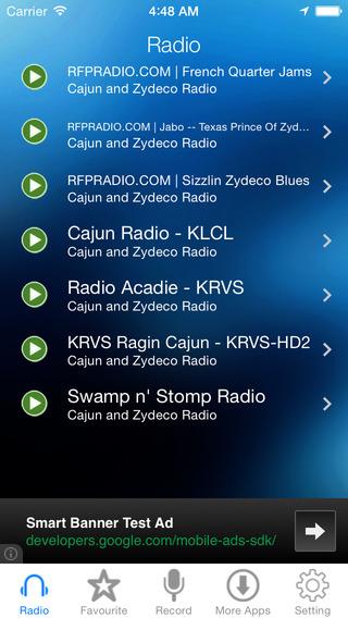 Cajun and Zydeco Music Radio Recoreder