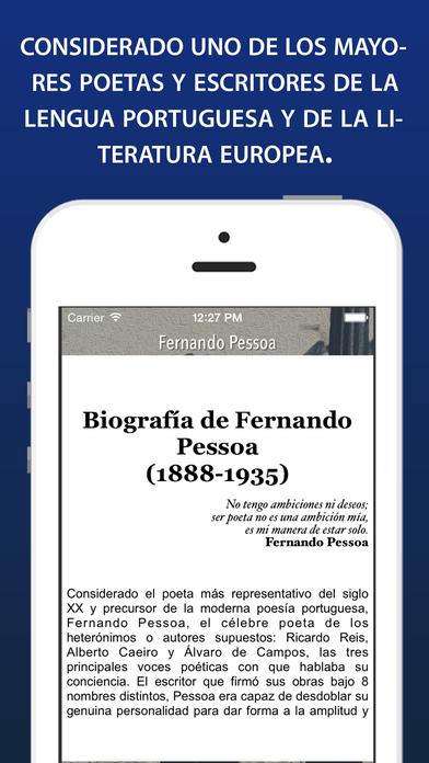 Fernando Pessoa iPhone Screenshot 2