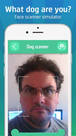 Face scanner simulator: What dog