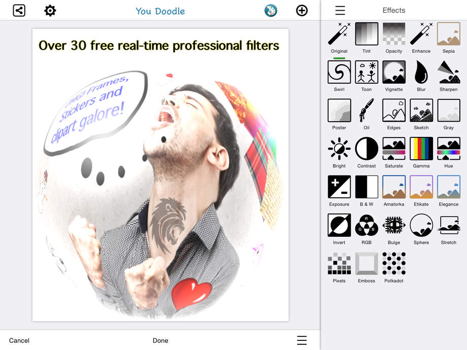You Doodle - draw on photos, overlay/add text - full art studio editor - iPhone Mobile Analytics and App Store Data