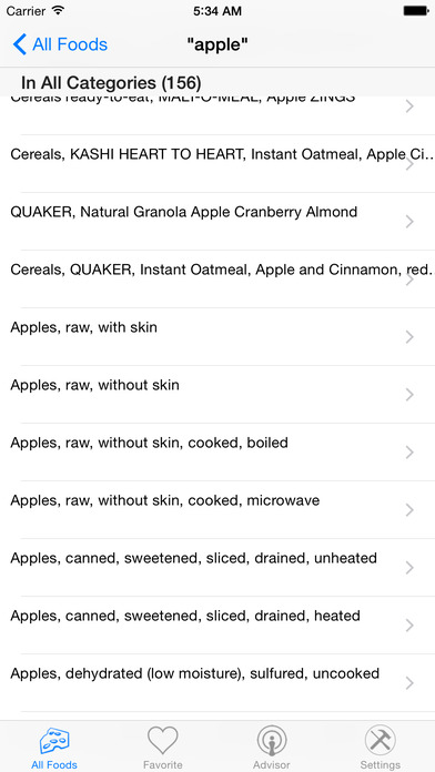 Nutrition Complete iPhone Screenshot 2