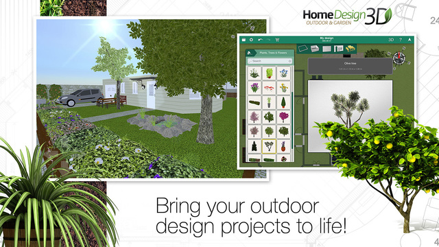 Home design 3d outdoor garden on the app store on itunes for Icf home design software