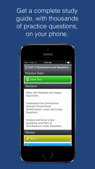 Math 8 Study Guide and Exam Prep with Common Core by Top Student