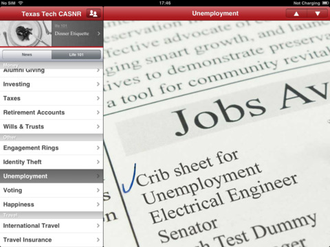 TTU CASNR Alumni Crib Sheet iPad Screenshot 5