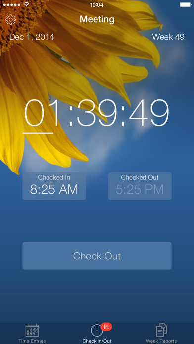 Week Timer iPhone Screenshot 1