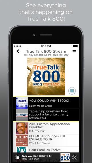 True Talk 800 AM KPDQ Radio App