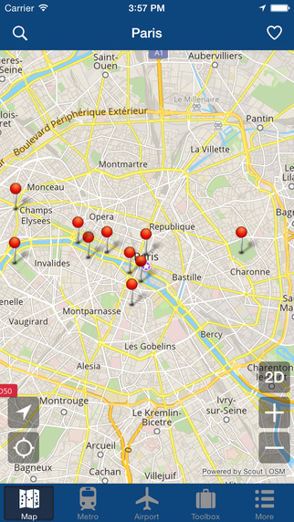Paris Offline Map - City Metro Airport and Travel Plan