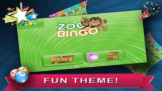 A Animal Zoo Buffalo Bingo
