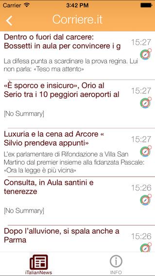 iTalian News iPhone Screenshot 4