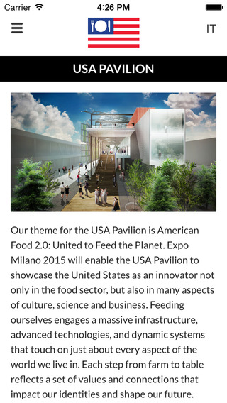 USA Pavilion at Expo Milano 2015 Official App