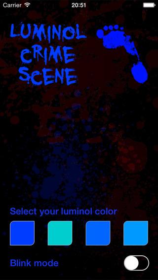 Luminol Crime Scene