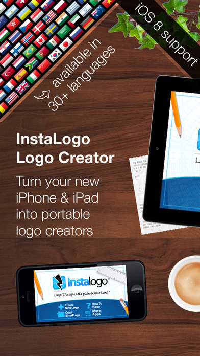 Screenshots of InstaLogo Logo Creator - Graphics maker for logos, flyer, poster & invitation design for iPhone