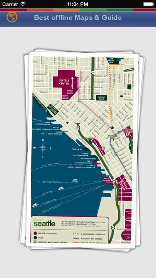 Seattle Tour Guide: Best Offline Maps with Street View and Emergency Help Info