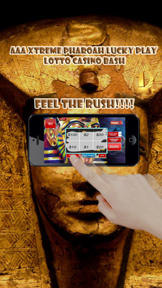 Aces Xtreme Pharaoh Lucky Scratch Lotto Casino Bash