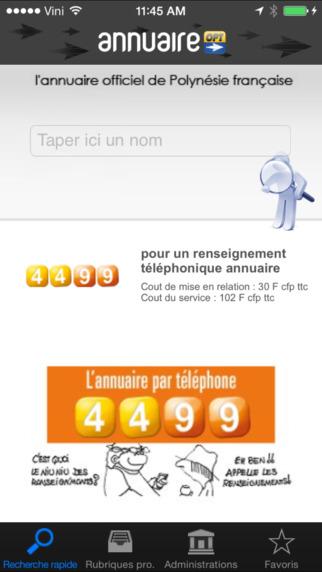 Annuaire OPT iPhone Screenshot 1
