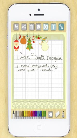 Create letters to Santa Claus Santa Claus