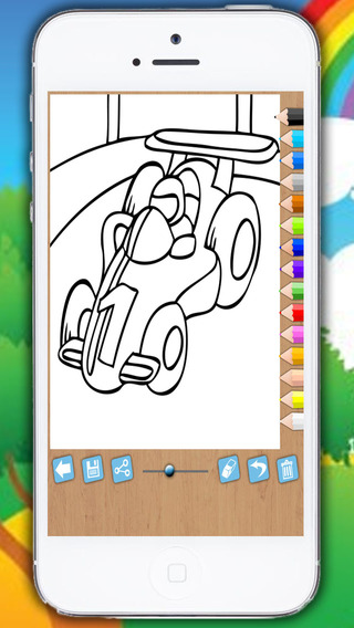 Paint and color cars - educational game for girls