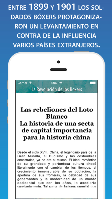 La Rebelión de los bóxers: expresión del descontento chino frente a las ingerencias potencias europeas iPhone Screenshot 2