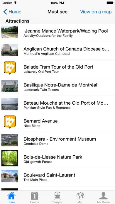Montreal Travel Guide Offline iPhone Screenshot 4