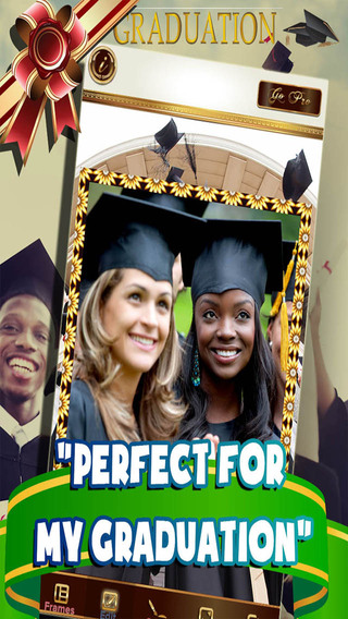 Graduation Celebration Photo Frame - New School Graduate Collage and Image Editor