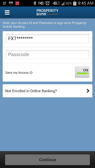 Prosperity Mobile Banking