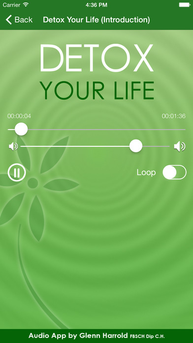 Detox Your Life by Glenn Harrold: A Self-Hypnosis Affirmation Meditation iPhone Screenshot 3