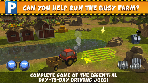 Farm Truck Car Parking Simulator - Real Tractor Driving Test Sim Racing Games