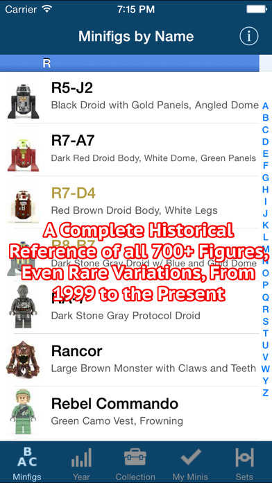 SWMinis - Minifig Collector iPhone Screenshot 5
