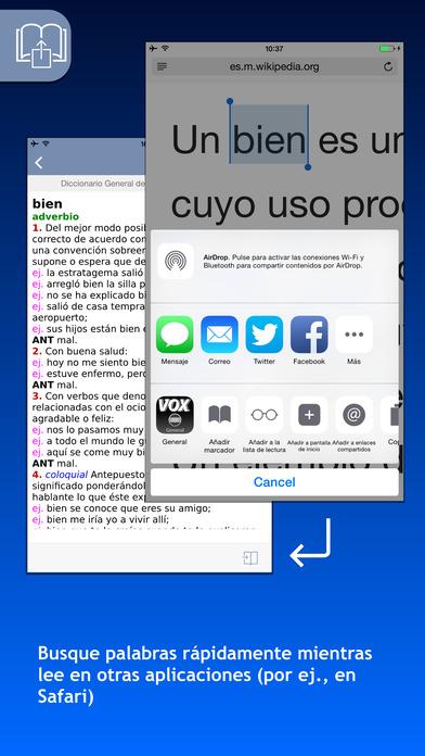 VOX Spanish Explanatory Dictionary iPhone Screenshot 3