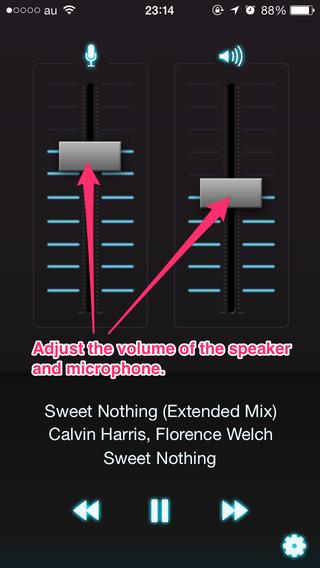 ThirdEar - Talk while wearing headphones.