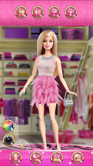Barbie Fashionista Games Online iPhone Screenshot