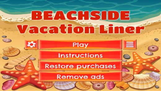 Beachside Vacation Liner - FREE - Slide Rows And Match Vintage 90's Items Super Puzzle Game