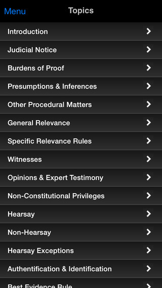 Evidence: Supreme Bar Review iPhone Screenshot 2