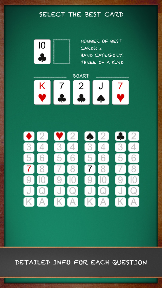 Screenshot 4 Poker Quiz — Texas Hold'em