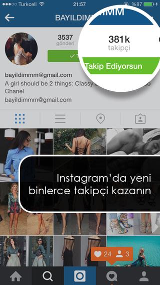 InstaTakipçi - Instagram için Türk Takipçi Arttırma