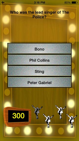 80's Music Trivia iPhone Screenshot 2