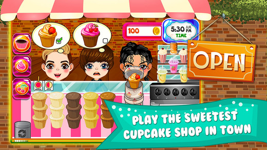 Cupcake Dessert Pastry Bakery Maker Dash - candy food cooking game