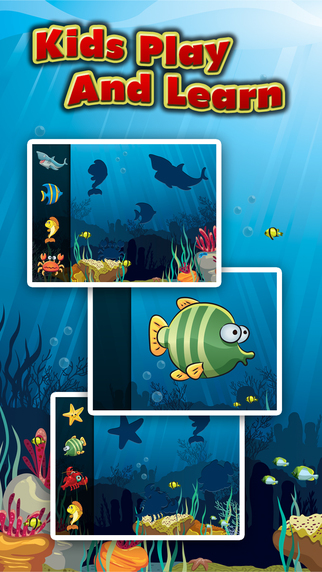 Underwater Puzzles for Kids - Educational Jigsaw Puzzle Game for Toddlers and Children with Sea Anim