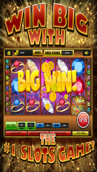 Ace Gem Jewel Slots Jackpot Machine Games - Lucky Spin To Win Prize Wheel Casino Game HD