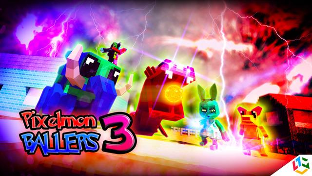 Pixelmon Ballers 3 - Modern Pika Voxel Battle 3D Edition With Minecraft Skin Uploader